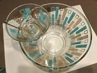 Vintage Turquoise Gold Atomic Retro Mid Century Modern - 3 Piece Set - Must See!