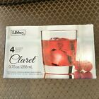 Libby Claret Clear Glass Whiskey Old Fashioned Double shot High ball NEW in BOX