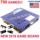 NEW 750 in 1 Game Elf JAMMA Arcade Board VGA Horizontal w BRACKETS US SELLER