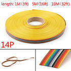 10 12 14 16 20 26 30 34 40pin Color Rainbow Ribbon Wire Cable Flat 1.27mm T2