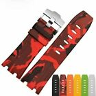 Red Camouflage Rubber Band for Audemars Piguet Royal Oak Offshore AP 28mm Rouge