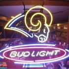 Los Angeles Rams Bud Light Budweiser Neon Sign 20