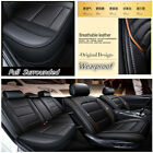 Full Surround Dynamic PU Leather Car ForntRear Row Seat Cover Cushion Mat Set