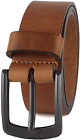 Mens Casual Full Grain Classic Leather Dress Belt For Jeans15 Wide USA