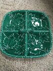 George Briard Vintage Green Maple Leaf Divided Gray With Original Box