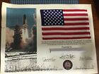 Space Flown Flag On STS 3 Space Shuttle Columbia
