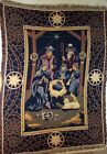 GoodwIn Weavers Christmas Nativity Scene Afghan Throw Blanket 46x63 Magi