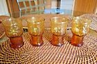 8 Libbey Country Garden Pattern Amber 6-oz Juice Glasses 4
