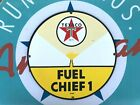 top quality TEXACO FUEL CHIEF 1  porcelain coated 18 GAUGE steel SIGN