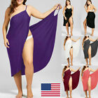 Women Swimwear Scarf Beach Cover Wrap Sarong Sling Skirt Maxi Dress Plus Size