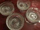 Vintage Indiana Glass Clear Diamond Point Cereal/Salad/Dessert Bowls 4 - EUC