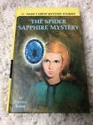 Nancy Drew Spider Sapphire Mystery Book Hardcover 1968 45 Yellow 1st PC Edition