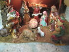 Nativity Manger 70s large scale Gorgeous 24X 12 11 Ceramic Huge Figurines