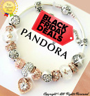 AUTHENTIC PANDORA CHARM BRACELET Silver Rose Gold White and European Charms New