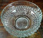 Large Serving Bowl Anchor Hocking Wexford Diamond Point Crystal Clear Glass