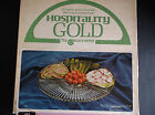 Vintage 3 Pc Hospitality Gold by Jeannette Glass Lazy Susan Snack Serving Plate