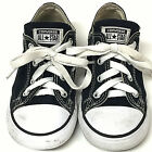 Converse All Stars Kids Sneakers Sz 9 Canvas Low Tops Black White Chuck Taylor