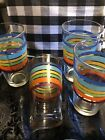 Retro Style Striped Libby Tumblers