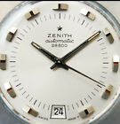 Zenith automatic steel cushion case 28800 1970s NSA strap top condition Serviced