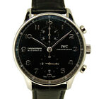 Auth IWC Portuguese chronograph IW 371447 mens Stainless SteelxStainless Ste...