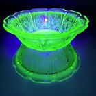 Uranium Depression Glass Dessert Bowls Jeanette Cherry Blossom Green Set of 2