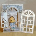 Window Frame Cutting Dies Stencil for Scrapbooking Card Embossing Craft Nice