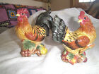 ROOSTER AND HEN SALT SHAKERS BY FITZ AND FLOYD