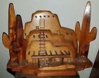 Hand Crafted Wood Wooden Casa Adobe House Native American 16 x 12 x 8 MAZZZZ