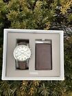 Fossil Men's Flynn Brown Leather Watch Gift Set  BQ2280  NWT  $155