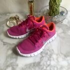 Nike Sneakers Shoes Free 50 Pink Sz 55 Youth AM207