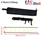 8 Rung Football Speed Agility Training Ladder 4m Flat Rung with Carrying Bag