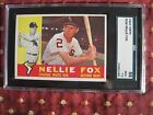 NELLIE FOX 1960 TOPPS GRADED SGC 86 NEAR MINT+ #100 7.5 7 6 psa bvg WHITE SOX!!!