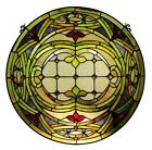 Stained Glass Chloe Lighting Float Art Window Panel 24 Inches CH1P308GV24 GPN