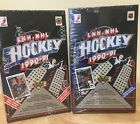 1990 91 UPPER DECK FRENCH HOCKEY COMBO:ONE BOX EACH HIGH AND LOW SERIES