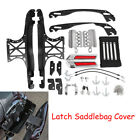 Touch Opening Saddlebag Latch Lids Hardware Kit Fit For Harley Touring 2