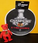 CHICAGO BLACKHAWKS 2015 STANLEY CUP CHAMPIONS 6x CHAMPS DIE-CUT PENNANT w/Beanie