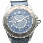 Used Auth CHANEL J12 H4338 Men Watch Blue Titanium Ceramic AT Leather Japan