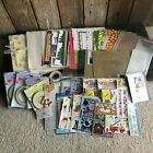 Huge Lot of over 350 items SCRAPBOOK Stickers Paper Stencils Cut outs Pages