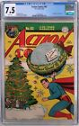 **ACTION COMICS #93 CGC 7.5**FEB 1946 DC**CLASSIC CHRISTMAS COVER**WHITE PAGES**