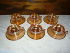 Jeannette Moderne Set of 6 Marigold Cups and Saucers