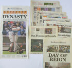 SF Giants 2014 WORLD SERIES CHAMPIONS Newspaper Collection Chronicle Dynasty Win