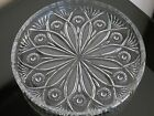 VINTAGE PRESSED GLASS SERVING PLATE DISH EXTREMELY HEAVY