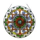Stained Glass Chloe Lighting Round Victorian Window Panel CH1P512CV24 GPN 24