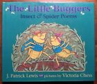 VG 1st ED HC dj RARE Signed Little Buggers Insect Spider Poems Lewis V Chess