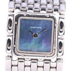 AUTHENTIC CARTIER SBLL007 Ryuban Watches StainleStainless Steel Steel Wome...