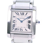 AUTHENTIC CARTIER W51011Q3 Tank Francaise MM Watches blue/Silver StainleSt...