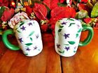 NEW OTHERold stock LARGE WAVELY SWEET VIOLET SALT  PEPPER SHAKERS W PLUGS