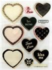 Close to my Heart CTMH My Acrylix Groovy Hearts C1058 Clear Acrylic Cling Stamps