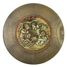 ANRI Juan Ferrandiz Christmas 1972 Wood Carved 3 Angels Manger Nativity Plate