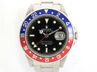 1984 Rolex GMT-Master II 16760 Fat Lady Pepsi, RARE Spider Web Dial, Stainless